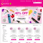 Priceline: 40% off Skincare, Suncare, Tanning + up to 50% off Fragrances (Inc. Gift Sets) for 3 Days, 13th-15th February 2018