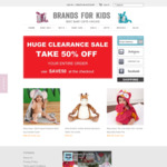 Kids Clothes and Toys 50% off Closing down Sale @ Brands for Kids