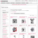 Box Damage Kenwood Deals Mixers, Blenders, Cooking Chef etc up to 80% Discount @ Kenwood World