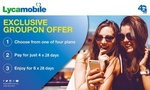 Lycamobile 6x 28 Days Prepaid Sim: 3GB ($80 Was $120), 6GB ($120 Was $180), 18GB ($160 Was $240), 20GB ($200 Was $300) @ Groupon