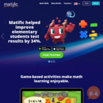 50% off on 12 Months Access to Primary School Maths Apps - $9.99 for a Single Grade or $19.99 for Full K-6 @ MatificGalaxy