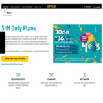 Optus - 20% off + Double Data $45/ $55/ $65 SIM Only Plans - $36/30GB Data, $44/50GB Data, $52/80GB Data - 12 Month Contract