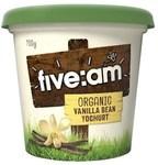 Five:am Organic Vanilla Bean Yoghurt 700g $4 (Was $6) @ Coles