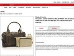 SOLD OUT Storksak Elizabeth Leather Bag $150 free del (was $419) $75 donated to Japan relief