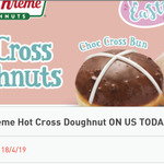 Free - Krispy Kreme Hot Cross Doughnut @ 7-Eleven Fuel App