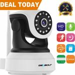 10% off Wi-Fi IP Security Camera $42.29 - 720p Night Vision Pan Tilt + Delivery (Free with Prime/ $49 Spend) @ GENBOLT Amazon