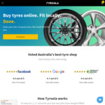 All Tyres 10% off at Tyroola.com.au