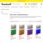 Star Wars X Wing Miniatures From $9.99 (Was $24.99) + $8.99 Shipping @ Games Empire