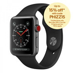 Apple Watch Series 3 42mm Cellular $429 + ElevationLab Nightstand Dock for $1 + Delivery ($0 with eBay Plus) @ Allphones eBay