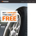 Hankook Tyres - Buy 3 Get 1 Free, Prices from $270 for a Set of 4 Tyres