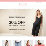 Black Friday Sale – 30% off in-Store & Online @ Soon Maternity