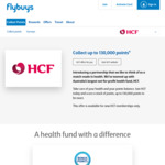 HCF Health Insurance - up to 130,000 flybuys Points ($650 in Value if Shop at Coles)