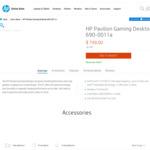 [Refurbished] HP Pavilion Gaming Desktop 690-0011a $674.11 Delivered @ HP Online Store