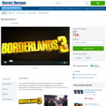 [PS4, XB1] Borderlands 3 $19 + Delivery ($0 C&C/In-Store) @ Harvey Norman