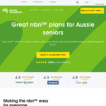 nbn 12/1 Unlimited Broadband with Phone $49/Mth for Seniors 60 and over@ Aussie Broadband