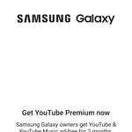 Free YouTube Premium for Samsung Mobile Users (4 Months for S20 5G / Flip / Fold Series, 2 Months for Others, New Customer Only)