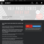 Save 50% with Cinebuzz on Full Price Adult Gold Class, V-Max, Boutique, Original Tickets (2 July Re-Opening) @Event Cinemas
