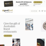 20% off When You Spend $150+ @ Good Food Gift Card