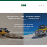 4WD Recovery Gear 10% off Sitewide, Soft Shackles from $22.50, Pulley Ring $67.50 @ George4x4