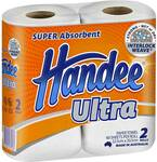 ½ Price Handee Ultra Paper Towel White 2 Pack $1.75 @ Woolworths