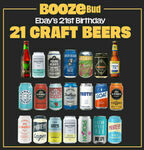 [eBay Plus] 21 Craft Beers Mixed Case $59 Delivered @ eBay BoozeBud