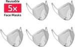 $40 off 5 Pack SCICON Reusable Hydrophobic Face Masks White $39.99 + $9.95 Shipping (Free Shipping over $100) @ ASG The Store
