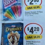 ½ Price Zooper Dooper Varieties 24 Pack $2.90 @ IGA & Woolworths