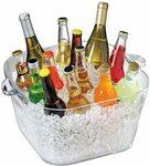 Serroni Square Square Party Tub, Clear $18 + Delivery ($0 with Prime/ $39 Spend) @ Amazon AU