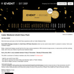 4x Gold Class off-Peak Tickets for $100 @ Events Cinema