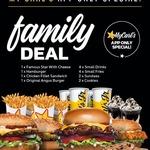 [Qld, NSW, SA, Vic] Carl's Jr $.24.95 Family Deal: 4 Burgers, 4 Small Drinks, 4 Small Fries, 2 Sundaes, 2 Cookies (via My Carl's
