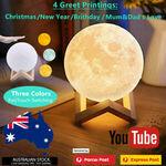 3D LED Moon Lamp $6.95 Delivered/C&C @ for_home_australia via eBay