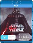 Star Wars Complete Saga - Episodes I to VI (6 Movies - 9 Disc Blu Ray) for $39.99 Delivered @ Amazon AU