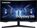 "Samsung Odyssey G5 144hz WQHD 1ms Curved Gaming Monitor: 27"" $399, 32"" $499 Delivered (& Redeem $50 Steam Card) @ Mwave"