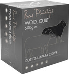 Bas Philips 600GSM Wool Quilt Queen Size $89 + Shipping @ Wilson's Warehouse