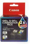 Canon Combo XL Ink Cartridges Twin Pack, Black/Multi-Colour, 28873 (PG640XL/ CL641XL) $54.95 Delivered @ Amazon AU