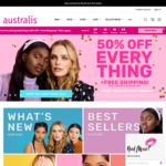 50% off Sitewide (Excluding Clearance) + Free Shipping With $25+ Order @ Australis Cosmetics