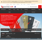 Qantas: Double Status Credits Anywhere in Australia or NZ for Qantas Points Club Members @ Qantas.com