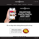 """[SA] Free 10"""" Pizza (with $30 Min Spend), Free Garlic Bread (with First App Order) Pick up (Delivery from $7) @ Fasta Pasta Ap"""