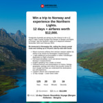 Win a Trip to Norway and Experience The Northern Lights 12 Days + Airfares Worth $12,000 from Cruise Passenger