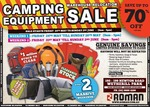 Roman Camping Warehouse Moving Sale - up to 70% off [SYD]