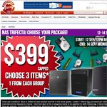 NAS Trifecta Bag: 3 Items for $399 Choices Includes HP MicroServer, Samsung 840 250GB, 3TB Drive