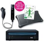 Wii Black Console Plus Fit Bundle $138 (Save $100)