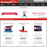 Lenovo Easter Sale 5% - 30% off ThinkPad & ThinkStation
