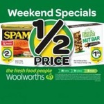 Spam 340g $2 (Save $2.69), Nice & Natural Bars 192g $1.99 @ Woolworths until Sunday