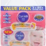 Curash Baby Wipes 3x 80 Pack $6.49 Good Price Pharmacy Warehouse