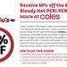 50% off Extra Bloody Hot Peri Peri Sauce (Nandos) @ Coles