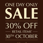 Lindt Chocolate Café - 30% off Retail Items (30/10/2014)