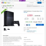 Sony 500GB PlayStation 4 Console - $389 Delivered - Dick Smith eBay Group Buy