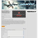 Free Double Pass To See Insurgent The Night before Release at SYD, MEL, & BRI (March 18th) from Pedestrian.tv