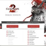 Guild Wars 2 Digital Heroic ($10 USD / -75%), Guild Wars 2 Digital Deluxe ($15 USD / -75%)